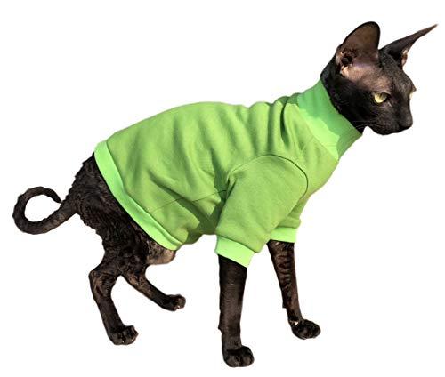 Kotomoda Cats Cotton Sweater LIME B07KWGZ93P