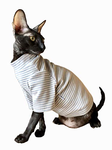 Kotomoda Cats SWEATER with long sleeves and grey light stripes B07PSBB3Q7