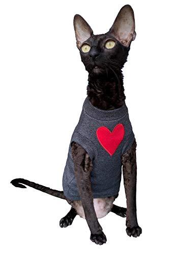 Kotomoda Cats T shirt I love you Dark grey B08D11F1MW