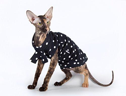 Kotomoda Cats T shirt Sailor girl black and white Sphynx cat clothes B07VRBCMZV