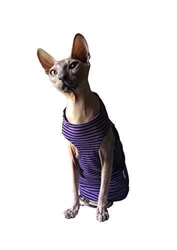 Kotomoda Cats TANK Purple Black stripes B07TG7QHV9
