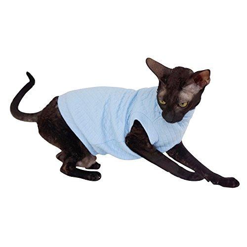 Kotomoda Cats Turtlneck maxi Pajamas BlueSky B07B31MNL8