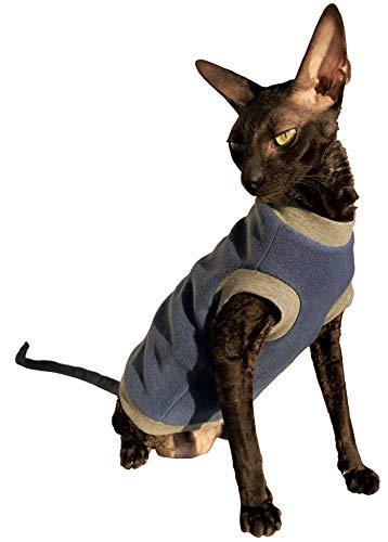 Kotomoda Cats pullover Blue Fleece B07J5PTBT9