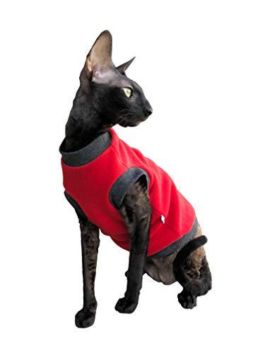 Kotomoda Cats pullover Red Fleece B07GXDH577