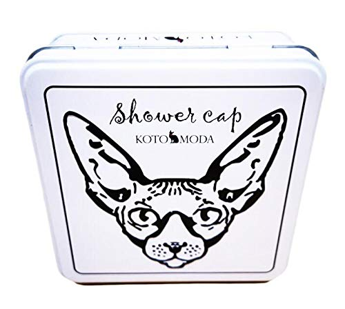 Kotomoda Shower Caps for Sphynx Cats and Other Hairless Cats in a Tin Gift Box B07V3RWCTV