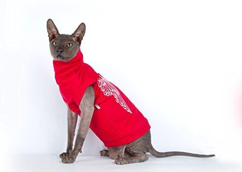 Kotomoda Sphynx Cats turtleneck Maxi Sphynx in Red Embroidery B081LMGZVF