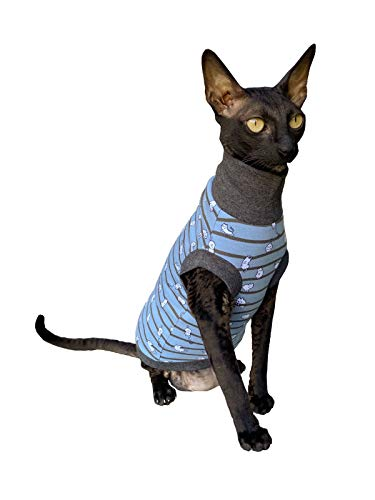 Kotomoda Sphynx Cats turtleneck Small cats blue Naked Cat Hairless Cat Clothes B08GV3N7BK