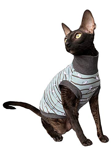 Kotomoda Sphynx Cats turtleneck Small cats green Naked Cat Hairless Cat Clothes B08P63B6JW