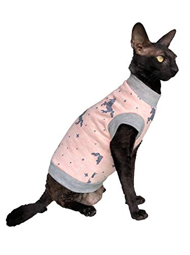 Kotomoda Sphynx Cats turtleneck Unicorn in PINK Naked Cat Clothes Hairless Cat Clothes B07WKJLVDJ