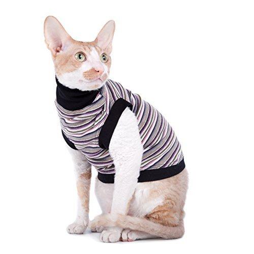 Kotomoda cat wear turtleneck Striped Cat B077CSXZB6