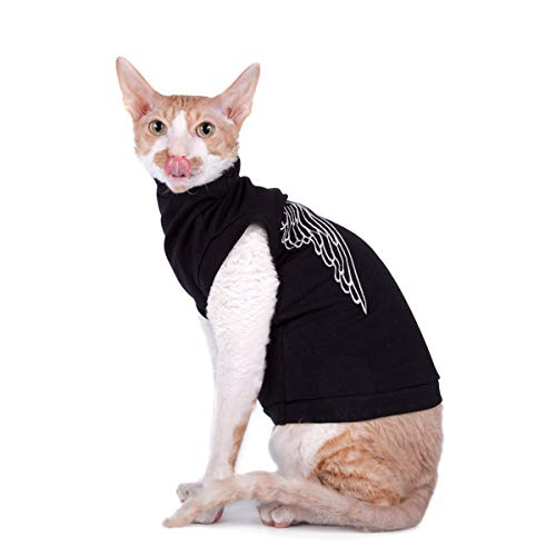 Kotomoda cat wear turtleneck maxi Silver Wings B07P4C5Y3F
