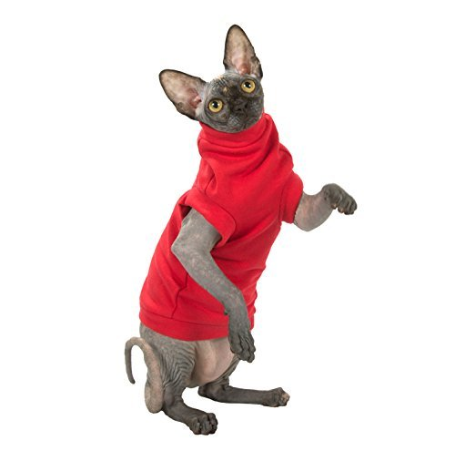 Kotomoda cat wear turtleneck maxi Winter In Red B07794DJBB