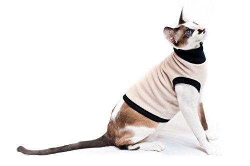 Kotomoda cats turtleneck T Beige Fleece B077NPW4QV
